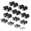 Sport-Thieme Compacte Halters Set - Gietijzer, 2,5-30 kg
