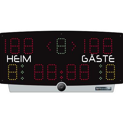 Stramatel Scorebord, Batterijwerking met afstandsbediening