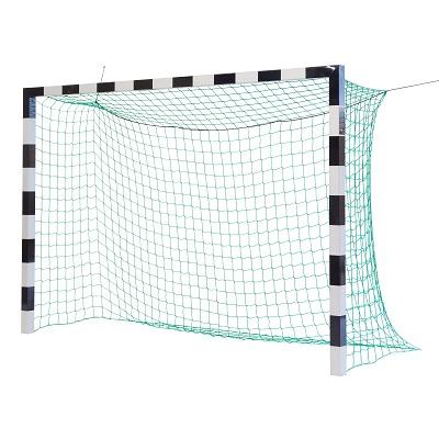 Sport-Thieme Zaalvoetbal 3×2 m, in grondbussen staand met gepatenteerde hoekverbinding, Zwart-zilver, Zonder netbeugel