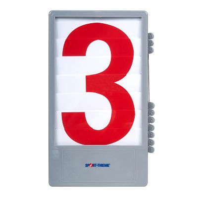 Trenas Cijfercassette voor manuele scoreborden, Rood