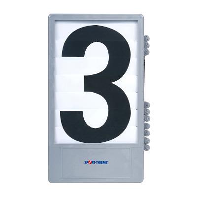 Trenas Cijfercassette voor manuele scoreborden, Zwart