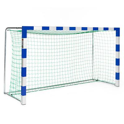 Sport-Thieme Mini-Handbaldoel 3×1,60 m, vrijstaand, Blauw-zilver, Alu-gietvorm hoekverbinding
