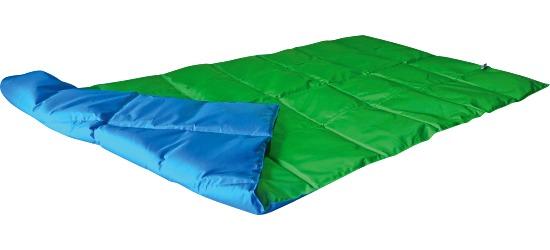 Enste zware deken/gewichtsdeken 180x90 cm / groen-blauw, Buitenhoes Suratec