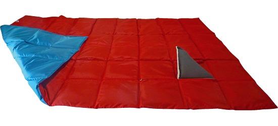 Enste zware deken/gewichtsdeken 198x126 cm / blauw-rood, Buitenhoes Suratec