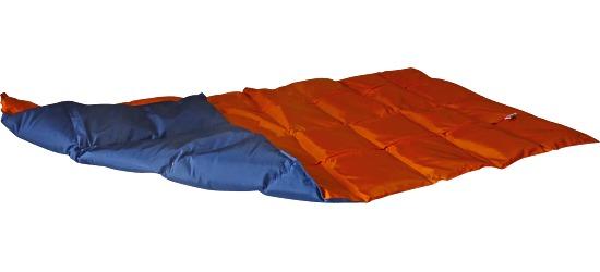 Enste zware deken/gewichtsdeken 144x72 cm / oranje-donkerblauw, Buitenhoes Suratec
