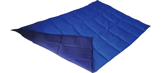 Enste® zware deken/gewichtsdeken 198x126 cm /blauw-donkerblauw, Buitenhoes katoen