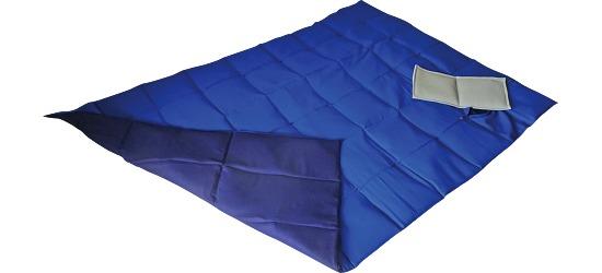 Enste zware deken/gewichtsdeken 198x126 cm /blauw-donkerblauw, Buitenhoes katoen