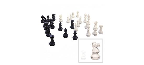 Schaakfiguren Standvlak ø 22,5 cm, hoogte koning 64 cm