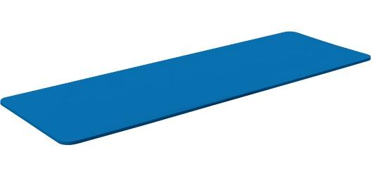 "Sport-Thieme® Gymnastiekmat ""Basic 15"" Zonder ogen, Blauw"