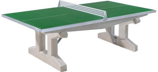 """Sport-Thieme® tafeltennistafel """"Premium"""" van polymeerbeton Groen, Korte poot, vrijstaand"""