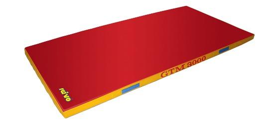 "Sport-Thieme® Toestel Turnmat ""GTM 3000"" 200x100x6 cm, 17 kg, Rood"