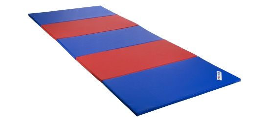 Sport-Thieme® Vouwmat 300x120x3 cm, Blauw-rrod