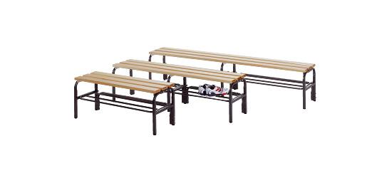 Sypro Wolf® omkleedbank voor droge ruimten, zonder leuning 1,01 m, Zonder schoenrooster
