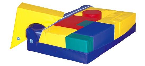 Zachte Vloerbedekking voor reuze bouwstenen 150x150x30 cm