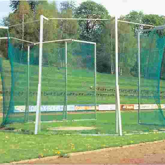 Beschermkooi voor hamerslingeren en discuswerpen; in grondbussen