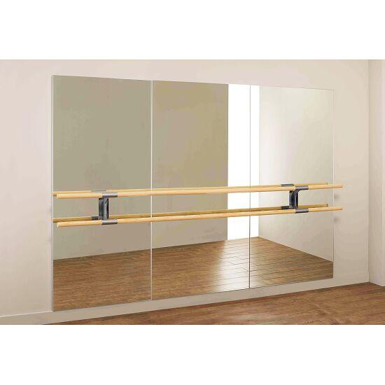 """Dinamica balletspiegel """"Amadeus"""" Dubbele barren van 3m en 2 houders, 3,00x2,00 m"""