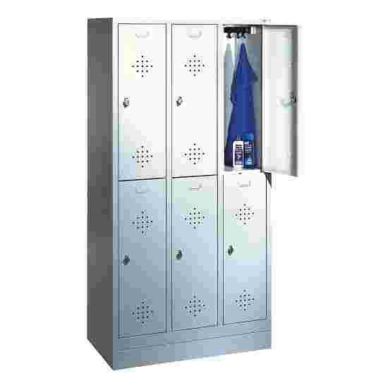 """Dubbele garderobekast """"S 2000 Classic"""" met 100 mm hoge sokkel 180x120x50 cm/ 6 vakken, 40 cm"""