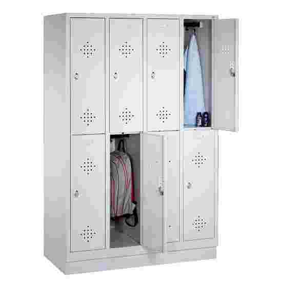 """Dubbele garderobekast """"S 2000 Classic"""" met 100 mm hoge sokkel 180x159x50 cm/ 8 vakken, 40 cm"""