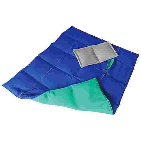 Enste Physioform Reha Zwaar deken/Gewichtsdeken 90x72 cm / groen-blauw, Buitenhoes katoen