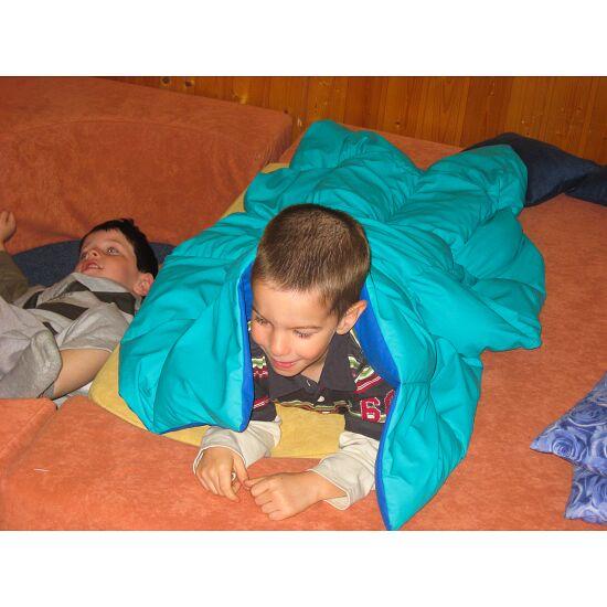 Enste® zware deken/gewichtsdeken 90x72 cm / groen-blauw, Buitenhoes katoen