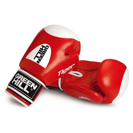 "Green Hill® bokshandschoenen ""Tiger"" 12 oz., rood"