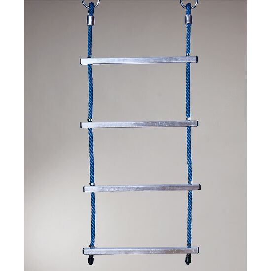 Huck touwladder met Herkules-touw en aluminium sporten Blauw