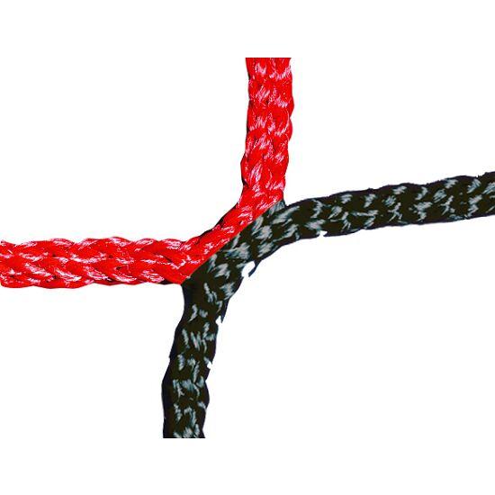Knopenloos Herenvoetbaldoelnet 750x250 cm Zwart-rood