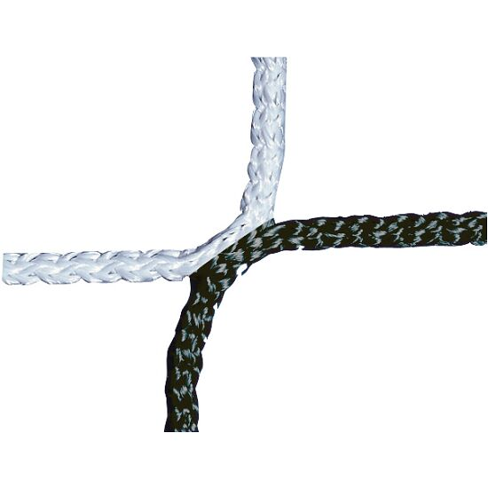 Knopenloos Herenvoetbaldoelnet 750x250 cm Zwart-wit
