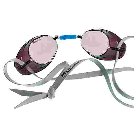 Originele Zweedse Malmsten zwembril, verspiegeld Zilver verspiegeld