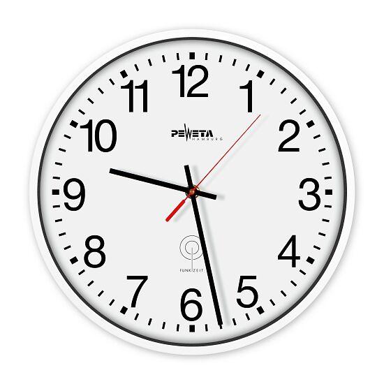 Peweta® radiogestuurde wandklok Cijferblad Arabische getallen