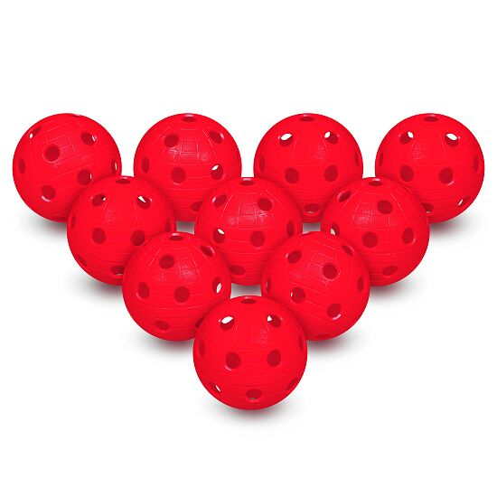Set van 10 Floorball-Ballen Rood