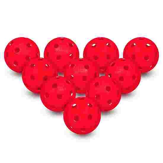 Set van 10 Floorball-Ballen Rood