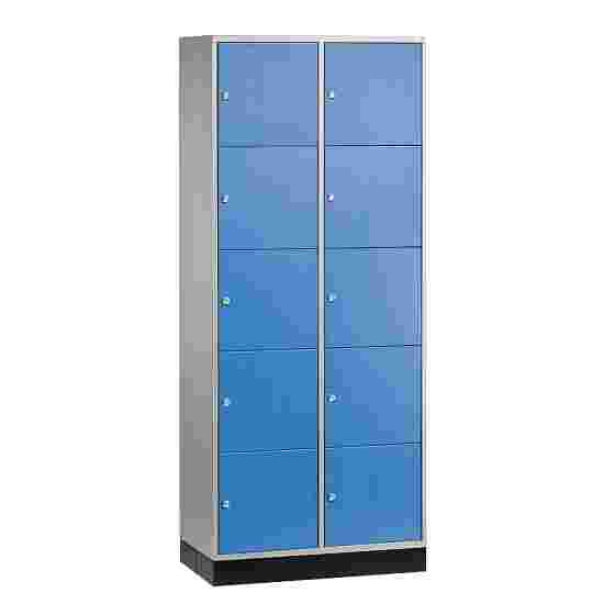 """Sluitvakkast """"S 4000 Intro"""" (5 vakken boven elkaar) 195x62x49cm/ 10 vakken, Gentiaanblauw (RAL 5010)"""