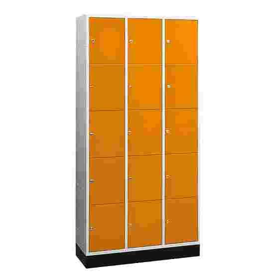 """Sluitvakkast """"S 4000 Intro"""" (5 vakken boven elkaar) 195x92x49cm/ 15 vakken, Geel-oranje (RAL 2000)"""
