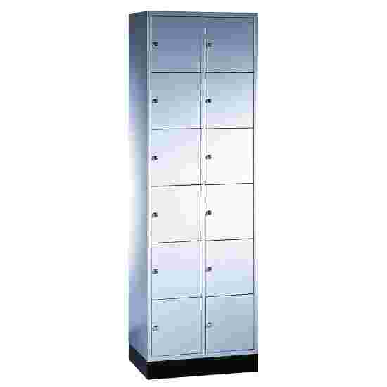 """Sluitvakkast """"S 4000 Intro"""" (6 vakken boven elkaar) 195x62x49 cm/ 12 vakken, Lichtgrijs (RAL 7035)"""