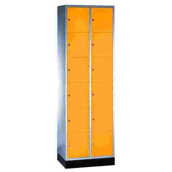 """Sluitvakkast """"S 4000 Intro"""" (6 vakken boven elkaar) 195x62x49 cm/ 12 vakken, Geel-oranje (RAL 2000)"""