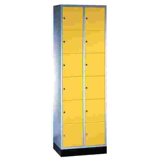 """Sluitvakkast """"S 4000 Intro"""" (6 vakken boven elkaar) 195x62x49 cm/ 12 vakken, Fel geel (RDS 080 80 60)"""