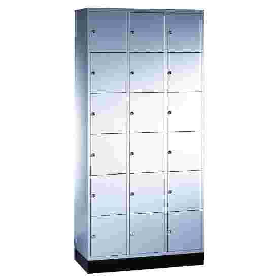 """Sluitvakkast """"S 4000 Intro"""" (6 vakken boven elkaar) 195x92x49 cm/ 18 vakken, Lichtgrijs (RAL 7035)"""
