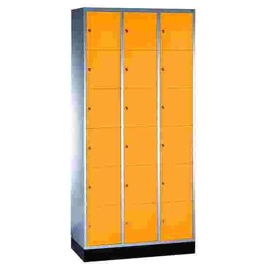 """Sluitvakkast """"S 4000 Intro"""" (6 vakken boven elkaar) 195x92x49 cm/ 18 vakken, Geel-oranje (RAL 2000)"""