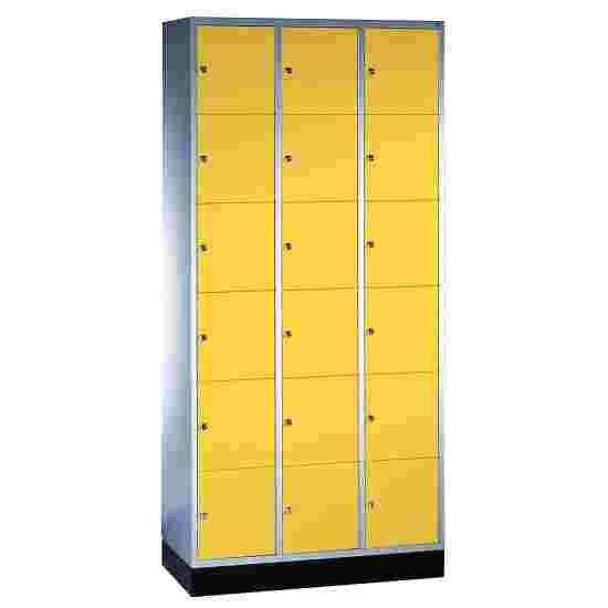 """Sluitvakkast """"S 4000 Intro"""" (6 vakken boven elkaar) 195x92x49 cm/ 18 vakken, Fel geel (RDS 080 80 60)"""