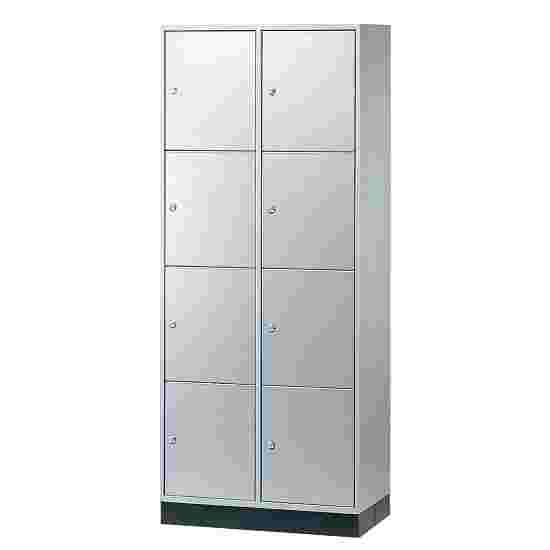 """Sluitvakkast voor grote ruimten """"S 4000 Intro"""" (4 vakken boven elkaar) 195x82x49 cm/ 8 vakken, Lichtgrijs (RAL 7035)"""