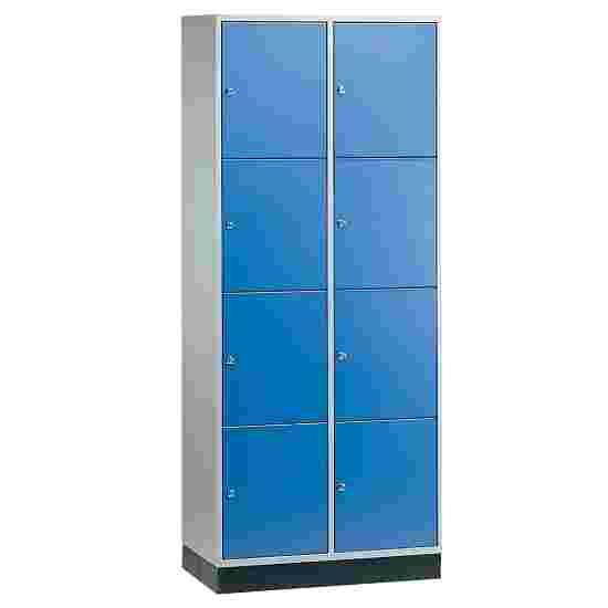 """Sluitvakkast voor grote ruimten """"S 4000 Intro"""" (4 vakken boven elkaar) 195x82x49 cm/ 8 vakken, Gentiaanblauw (RAL 5010)"""