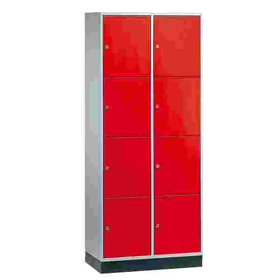 """Sluitvakkast voor grote ruimten """"S 4000 Intro"""" (4 vakken boven elkaar) 195x82x49 cm/ 8 vakken, Vuurrood (RAL 3000)"""