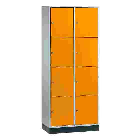 """Sluitvakkast voor grote ruimten """"S 4000 Intro"""" (4 vakken boven elkaar) 195x82x49 cm/ 8 vakken, Geel-oranje (RAL 2000)"""