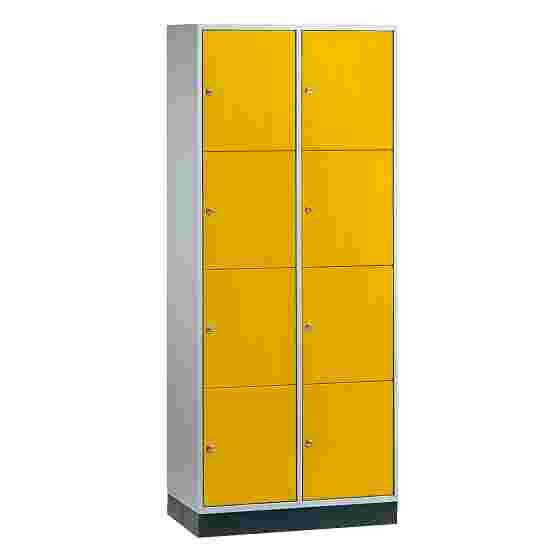 """Sluitvakkast voor grote ruimten """"S 4000 Intro"""" (4 vakken boven elkaar) 195x82x49 cm/ 8 vakken, Fel geel (RDS 080 80 60)"""