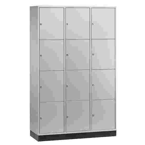 """Sluitvakkast voor grote ruimten """"S 4000 Intro"""" (4 vakken boven elkaar) 195x122x49 cm/ 12 vakken, Lichtgrijs (RAL 7035)"""