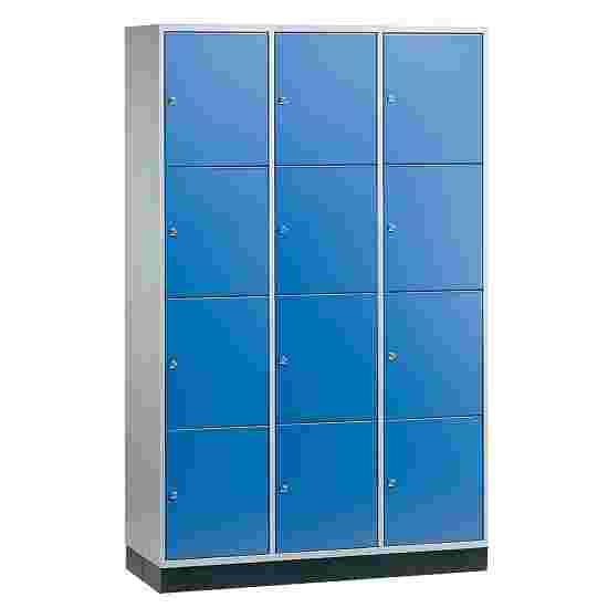 """Sluitvakkast voor grote ruimten """"S 4000 Intro"""" (4 vakken boven elkaar) 195x122x49 cm/ 12 vakken, Gentiaanblauw (RAL 5010)"""