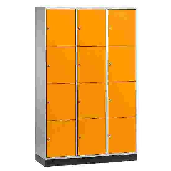 """Sluitvakkast voor grote ruimten """"S 4000 Intro"""" (4 vakken boven elkaar) 195x122x49 cm/ 12 vakken, Geel-oranje (RAL 2000)"""