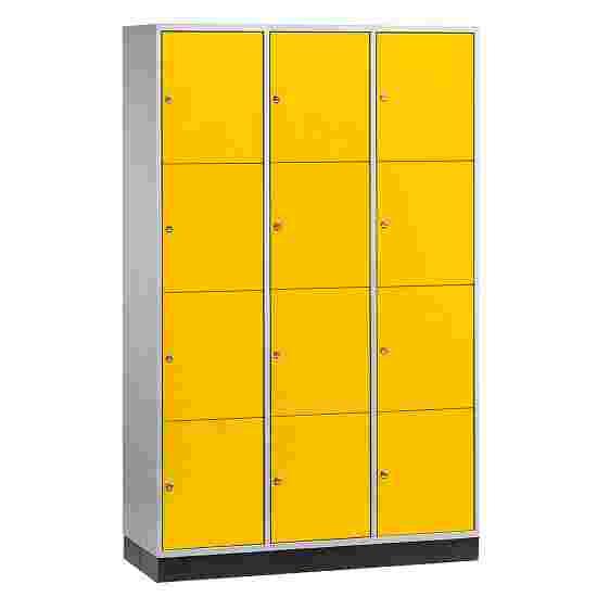 """Sluitvakkast voor grote ruimten """"S 4000 Intro"""" (4 vakken boven elkaar) 195x122x49 cm/ 12 vakken, Fel geel (RDS 080 80 60)"""