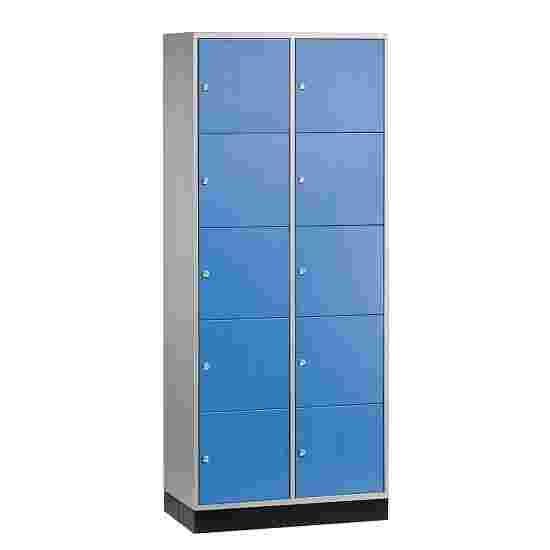 """Sluitvakkast voor grote ruimten """"S 4000 Intro"""" (5 vakken boven elkaar) 195x85x49 cm/ 10 vakken, Gentiaanblauw (RAL 5010)"""